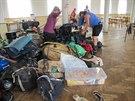 Skauti evakuovan� kv�li rozvodn�n� Blanici a Zlat�m potoku na�li do�asn� azyl v...