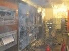 Kvůli technické závadě na ohřívacím zařízení hořela v sázavské pekárně linka na...