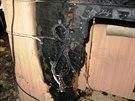 V obývacím pokoji tohoto rodinného domu začalo hořet od elektrické šňůry...