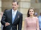 Špainělský král Felipe VI. a královna Letizia na oslavách dne svatého Jakuba...