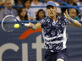 Tomáš Berdych na turnaji ve Washingtonu.