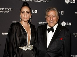 Lady Gaga a Tony Bennett (New York, 28. �ervence 2014)