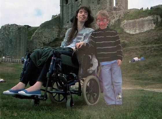 Dawn Faizey Websterová se synem Alexanderem.