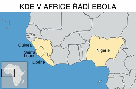 Kde v Africe řádí ebola