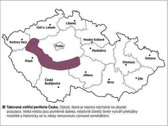 Takvzaná vnitřní periferie Česka.