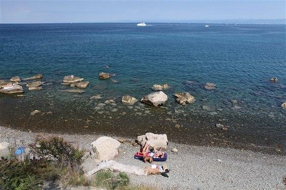 Z osmdesát metrů vysokého útesu ve Strunjanském přírodním parku je možné sejít