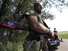 Bojovník Doněcké lidové republiky na východě Ukrajiny  (5. srpna 2014)