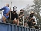 Nepokoje na kyjevském Majdanu (7. srpna 2014)