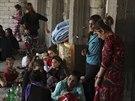 Jezídové ze Sindžáru museli utéct před Islámským státem (4. srpna 2014).