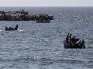 Palestinští rybáři vyjeli na moře (7. srpna 2014).