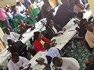 Centrum boje proti šíření eboly v Libérii