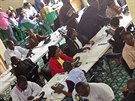 Centrum boje proti ���en� eboly v Lib�rii