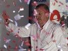 Kandidát na tureckého prezidenta dosavadní premiér Erdogan (8. srpna 2014).