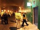 V tunelu Blanka proběhla příprava na cvičení nehody autobusu.