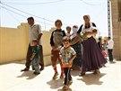 Desetitisíce jezídů musely prchnout před islamisty (4. srpna 2014).