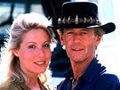 Herečka Linda Kozlowski se stala Hoganovou partnerkou i v civilním životě.