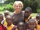 Američanka Nancy Writebolová pomáhala v Libérii pod hlavičkou humanitární...