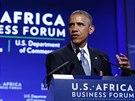 Americk� prezident Barack Obama hovo�� k africk�m l�dr�m na summitu ve...