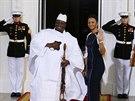 Setk�n� ve Washingtonu si nenechal uj�t tak� prezident Gambie Yahya Jammeh se...