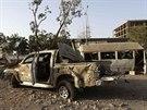 Boje mezi vl�dn�mi silami a povstalci zanechaly v Bengh�z� zna�n� �kody (30....