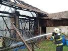 Blesk zapálil stodolu ve Vojtěchově.