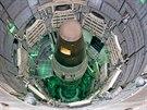 Hlavice rakety Titan II na americk� vojensk� z�kladn� u Tucsonu.