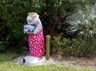 A mailbox in the shape of a manatee stands along the highway US-1 in the Lower...