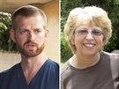 Američané Kent Brantly a Nancy Writebolová se nakazili smrtícím virem ebola při...