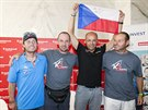 Horolezci (zleva) Honza Trávníček, Petr Mašek, Radek Jaroš a Martin Havlena na...