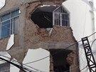 Následky zemětřesení v okrese Lu-tien na jihu Číny (3. 8. 2014)