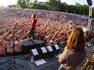 Kapela Kryštof během koncertu na festivalu Kryštof Kemp v Mikulově (2. srpna...
