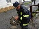 Přívalový déšť zatopil město Svratka na Vysočině, úřady tam vyhlásili třetí