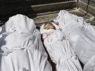Pohřeb palestinské rodiny, která zemřela ve svém domě během útoku izraelského...