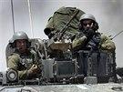 Izraelští vojáci se stahují z Pásma Gazy (4. srpna 2014)