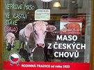 Pardubice, řeznictví v ulici 17. listopadu.