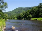 Řeka Ohře u Klášterce
