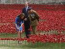 """Vlčí mák přišli """"zasadit"""" i členové britské královské rodiny (Londýn, 5. srpna..."""