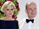 Monacký kníže Albert II. a kněžna Charlene na Red Cross Gala (Monte Carlo, 1. srpna 2014)