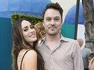Megan Foxová a její manžel Brian Austin Green na premiéře filmu želvy Ninja...