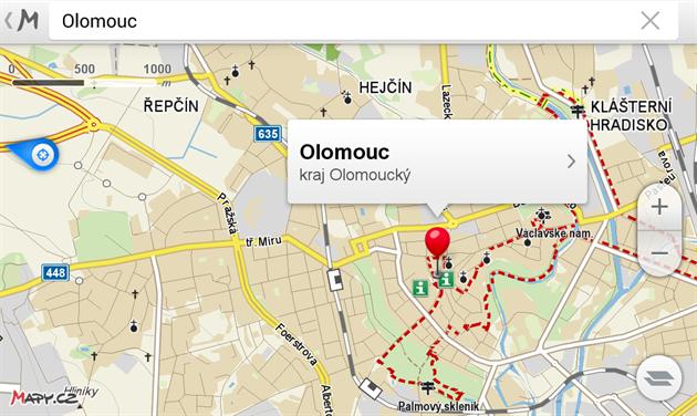 Mapy.cz nyní p�idávají mo�nost vyhledávat offline