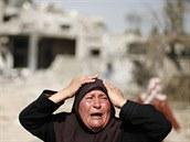 P�i izraelsk�m ost�elov�n� Gazy zahynulo u� t�m�� 1 500 Palestinc� (1. srpna...