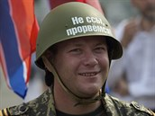 Žádný strach, probijeme se! Demonstrace na podporu donbaských povstalců v...