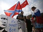 Demonstrace na podporu donbaských povstalců v Moskvě (2. srpna 2014)