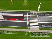 Praha 8 plánuje zavedení světelné signalizace, která chodce na přechodu...