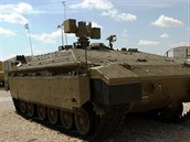 Izraelský obrněný transportér Namer v tankovém muzeu v Latrunu