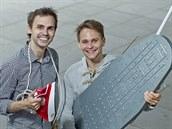 Projekt Ironing Ladies vymysleli a odstartovali v prosinci 2013 dva mladí muži - Jan Roháč (vlevo) a Martin Jůza.