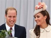 Princ William a jeho man�elka Kate (Lutych, 4. srpna 2014)