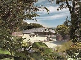 Nov� v�b�h pro slony m� rozlohu t�m�� 10 000 m2. Autorsk� pr�va: Zoo...