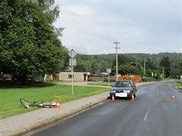 Vážná nehoda v Mladých Bukách na Trutnovsku, kde došlo ke střetu automobilu s...