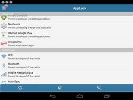 V aplikaci AppLock snadno uzamknete vybrané funkce tabletu i aplikace v jeho...